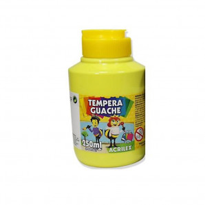 TINTA GUACHE 250ML ACRILEX 504 AMARELO LIMÃO