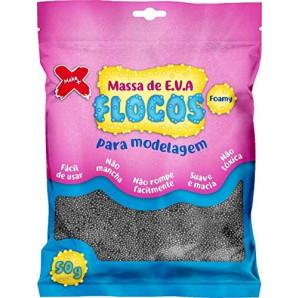MASSA DE EVA FLOCOS PRATA 50G