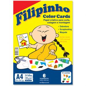 BLOCO CRIATIVE FILIPINHO COLOR CARDS COM 24 FOLHAS