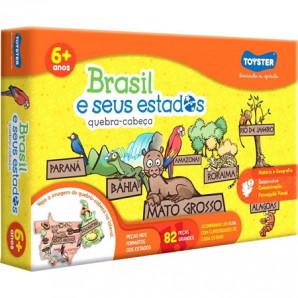 JOGO QUEBRA-CABEÇA TOYSTER BRASIL E SEUS ESTADOS