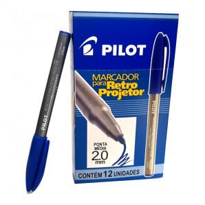 MARCADOR PILOT RETRO PROJETOR AZUL 2.0MM COM 12 UNIDADES