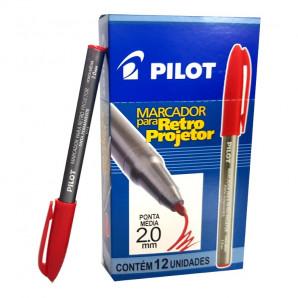 MARCADOR PILOT RETRO PROJETOR VERMELHO 2.0MM COM 12 UNIDADES