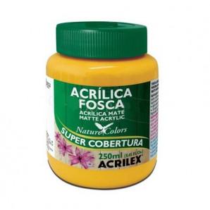 TINTA ACRÍLICA FOSCA 250ML ACRILEX 505 AMARELO OURO