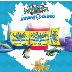 KIMELEKA SLIME ART KIDS ANIMAIS DO OCEANO ACRILEX