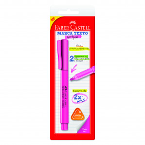 MARCA TEXTO FABER CASTELL GRIFPEN ROSA SUPERFLUORESCENTE