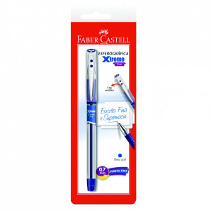 CANETA FABER CASTELL XTREME FINE 0.7MM AZUL