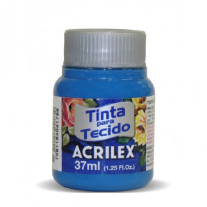 TINTA PARA TECIDO 37ML ACRILEX 568 AZUL CERÚLEO