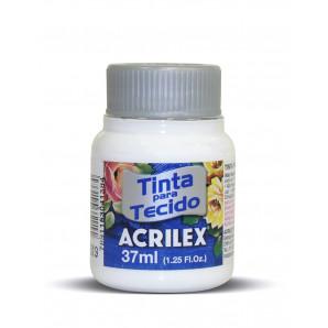 TINTA PARA TECIDO 37ML ACRILEX 519 BRANCO