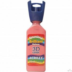 TINTA DIMENSIONAL BRILLIANT 35ML RELEVO 3D COLOR ACRILEX 567 ROSA CHÁ