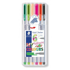 CANETA STAEDTLER TRIPLUS FINELINER MY WATERMELON COLOURS 0.3 MM