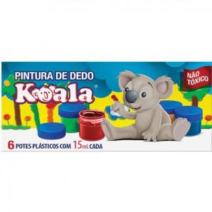 PINTURA A DEDO KOALA COM 6 UNIDADES